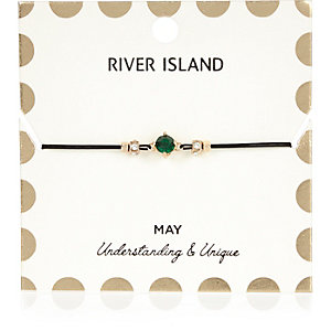 Green May birthstone bracelet