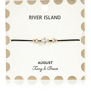Green August birthstone bracelet