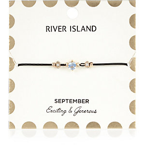Blue September birthstone bracelet