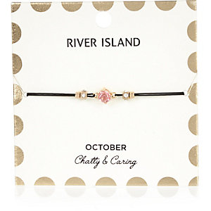 Pink October birthstone bracelet