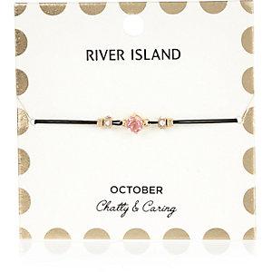 Bracelet rose avec pierre de naissance mois d'octobre