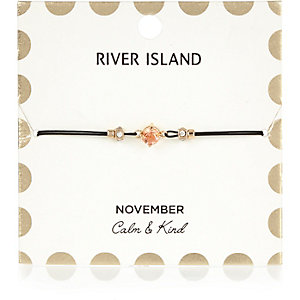 Orange November birthstone bracelet