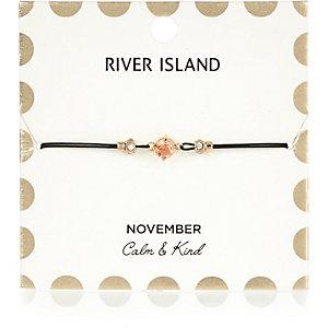 Bracelet orange avec pierre de naissance mois de novembre