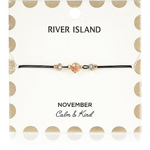 Armband mit Geburtsstein in Orange aus dem Monat November