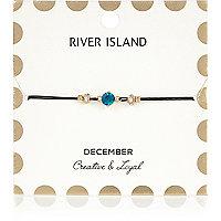 Armband mit blauem Geburtsstein aus dem Monat Dezember