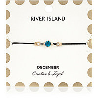 Blue December birthstone bracelet