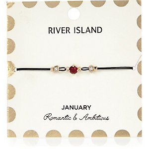 Red January birthstone bracelet