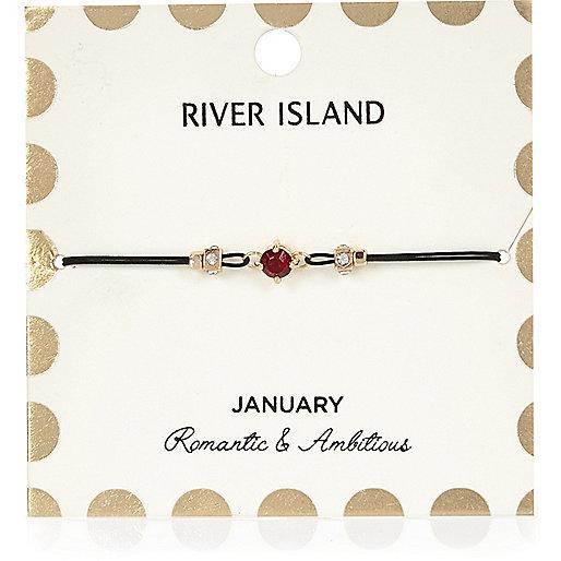 Armband mit rotem Geburtsstein aus dem Monat Januar