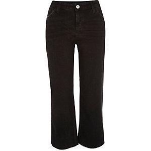 Black smart kick flare jeans