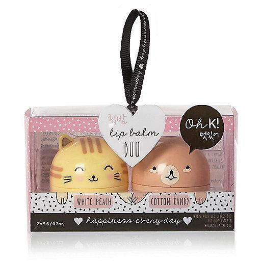 Oh K cute character lip balm duo
