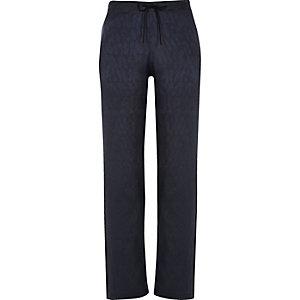 Navy drawstring pyjama trousers