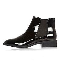 Chelsea-Stiefel aus schwarzem Lack