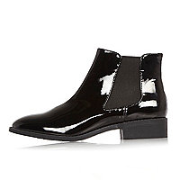 Bottines Chelsea vernies noires