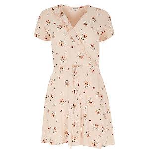 RI Plus light pink floral print dress
