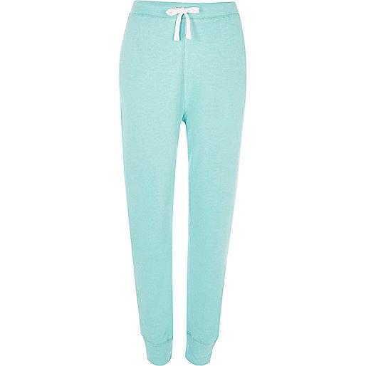 Pantalon de jogging en jersey turquoise