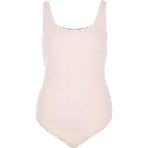 Light pink basic bodysuit