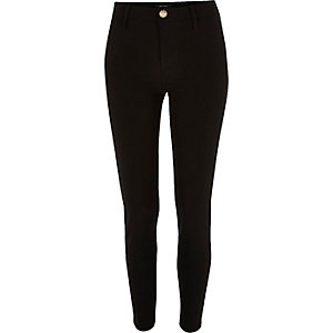 Black techno skinny fit trousers