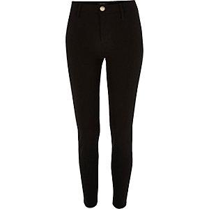 Black techno skinny fit trousers