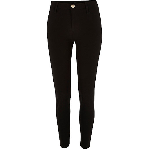Black techno skinny fit pants
