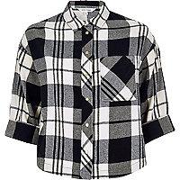 Black check grazer shirt