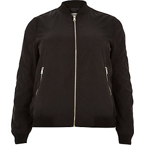 Plus black bomber jacket