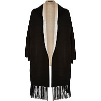 Black knit cape