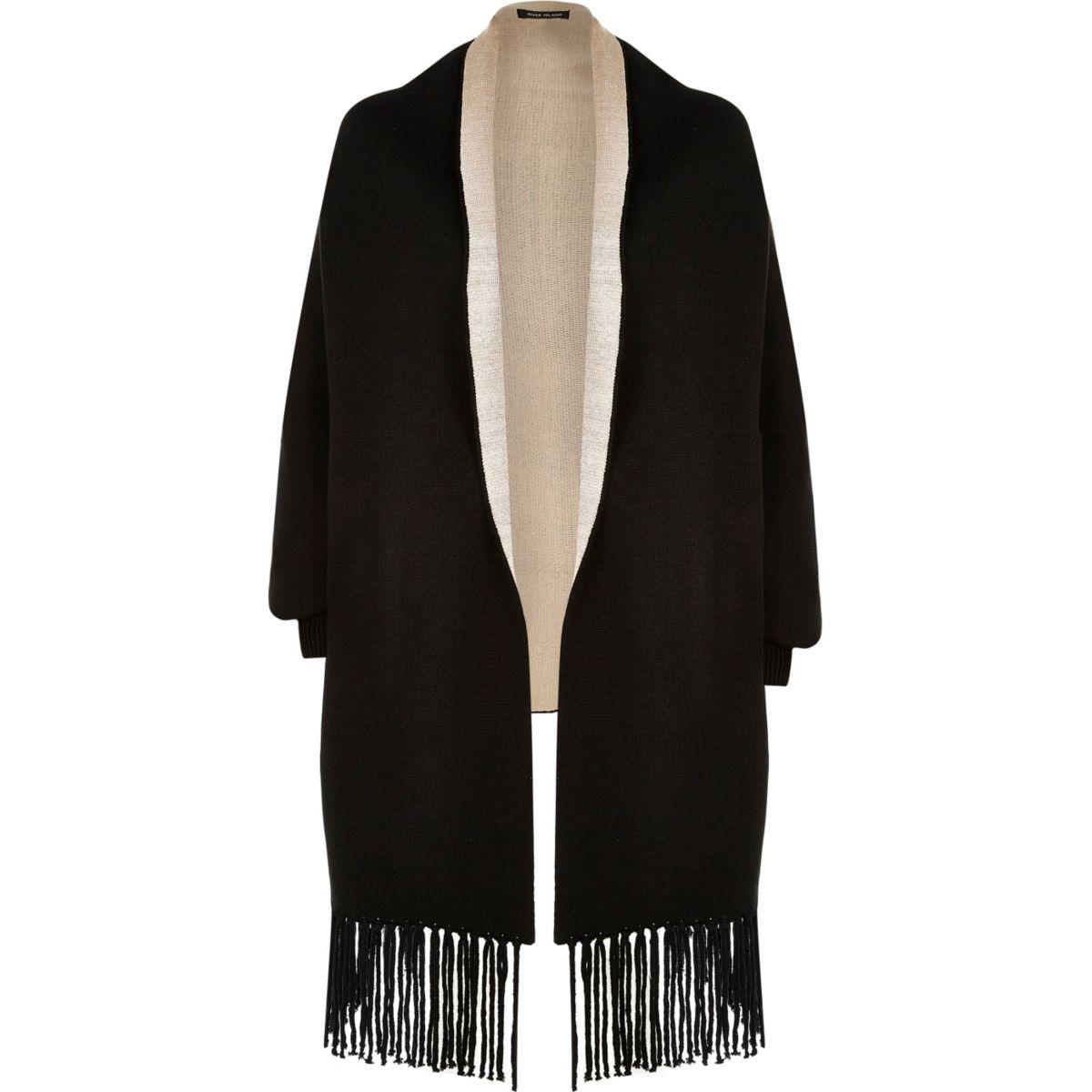 Black knit cape