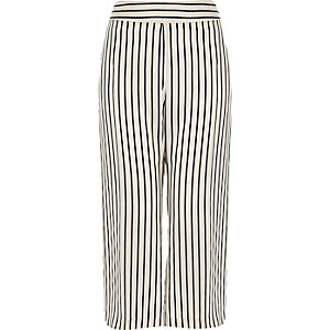 RI Plus stripe cropped pants