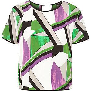 Purple print t-shirt