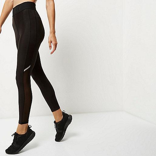 RI Active black mesh sports leggings