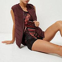 RI Active burgundy padded sports vest