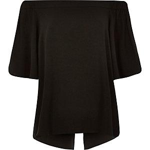 Black bardot top
