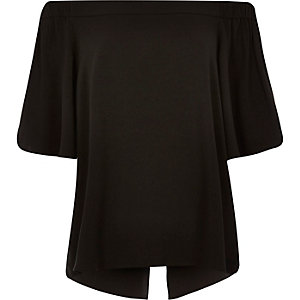 Black bardot top