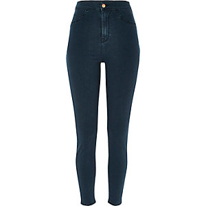 Blue high rise going out jeggings