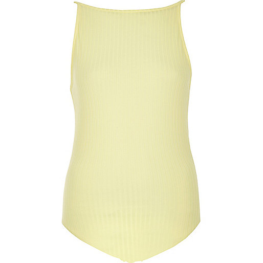 Yellow '90s cami bodysuit