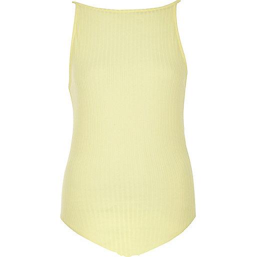 Body caraco style années 90 jaune