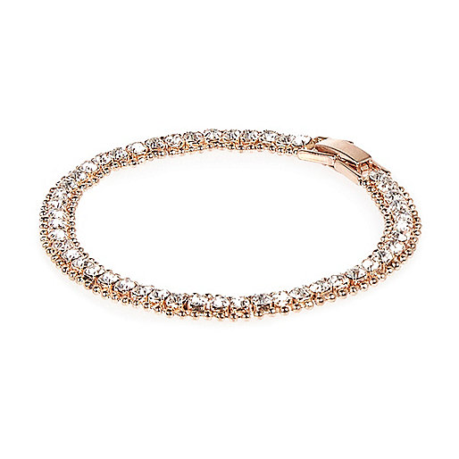 Rose gold gem encrusted bracelet