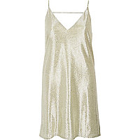Gold slip dress