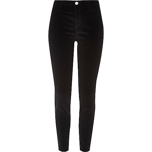 Black velvet Molly jeggings