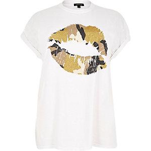 RI Plus grey print t-shirt