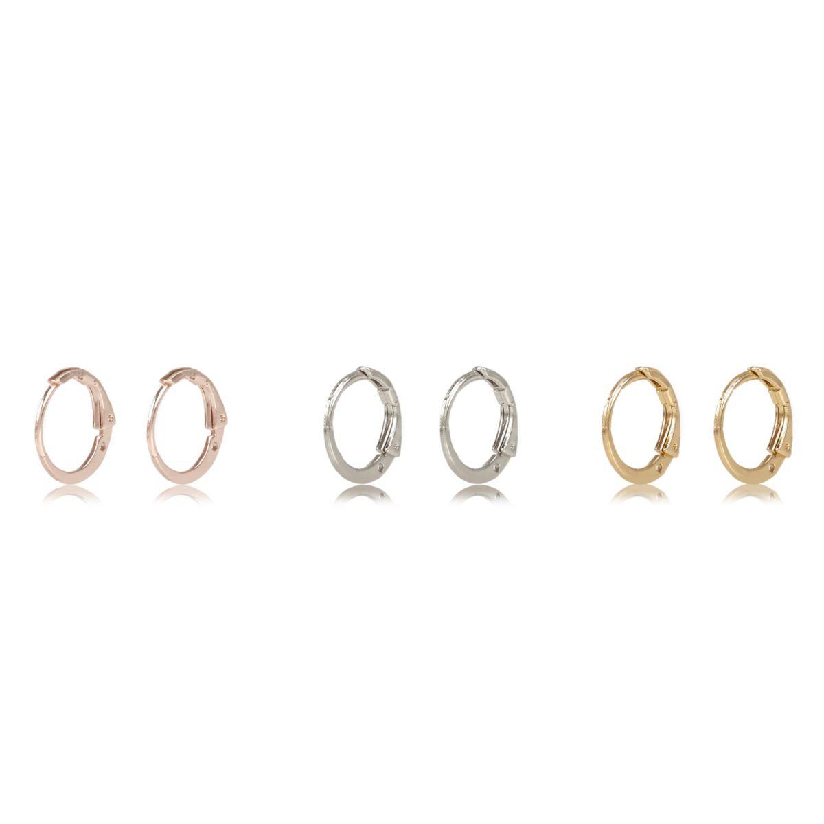 Rose gold tone hoop earrings pack