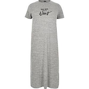 RI Plus grey print maxi dress