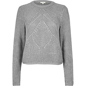 Silver stitch sweater