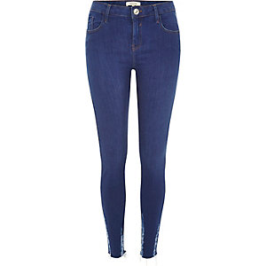 Bright blue Amelie super skinny jeans