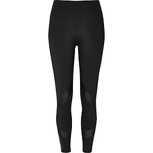 Zwarte legging met mesh inzetstukken