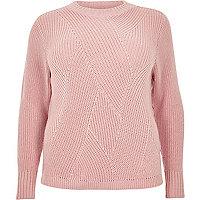 Plus pink stitch sweater