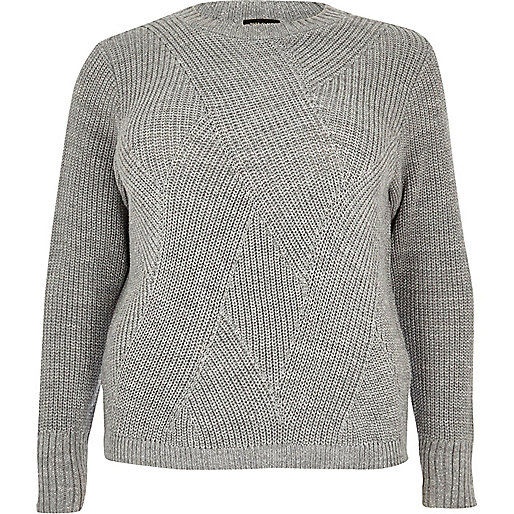 Plus – Silberner Pullover