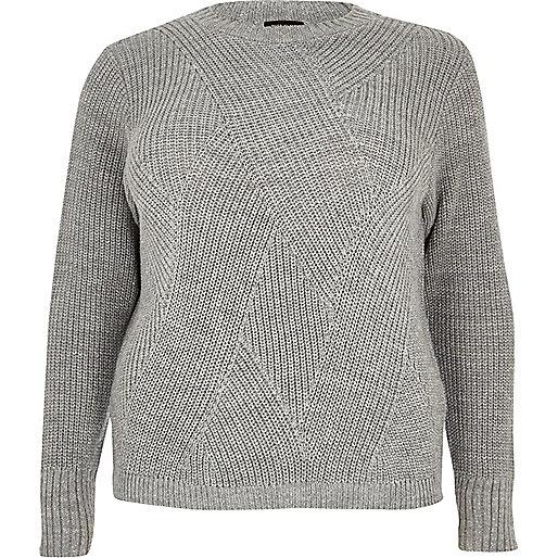 Plus silver stitch sweater