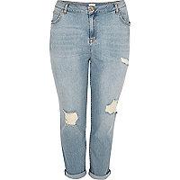 RI Plus – Ashley – Hellbraue Boyfriend-Jeans