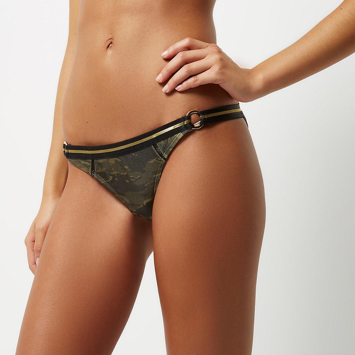 Green camo bikini bottoms